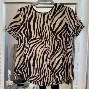 Zebra Top - medium- NWT